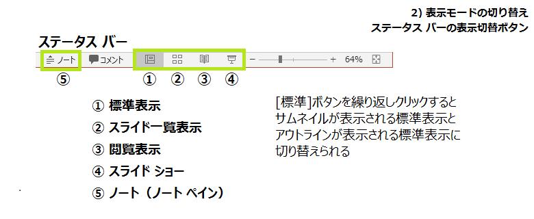 ステータスバー表示モード切替
